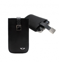 Чехол для iPhone 4/4S MINI Cooper Chequered leather sleeve for black (MNSLP4SQBL)