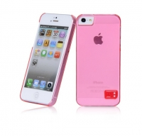 Чехол для iPhone 5/5S HOCO Crystal Colorful protective cover case for trans red (000247)