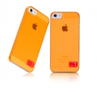 Чехол для iPhone 5/5S HOCO Crystal Colorful protective cover case for trans orange (000246)