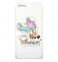 Fashion Protective case с камнями for iPhone 5/5S (000617)
