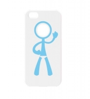 Чехол для iPhone 5/5S iCover Joy cover case for human white (000442)