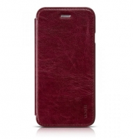 Чехол для iPhone 6 HOCO Crystal series classic leather wine
