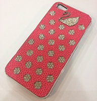 Fashion С камнями Swan cover case for iPhone 5/5S, red (000603)