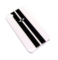 Чехол для iPhone 4/4S MINI Cooper Metallic stripes back cover for white (MNHCP4STWH)