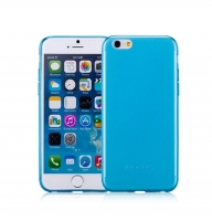 Чехол для iPhone 6 Momax Clear Twist TPU case Apple blue (030349)