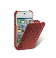 Чехол для iPhone 5/5S Melkco Ostrich Jacka leather case for fire brick (000485)
