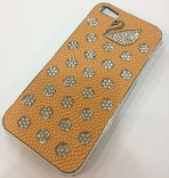 Fashion С камнями Swan cover case for iPhone 5/5S, yellow (000604)