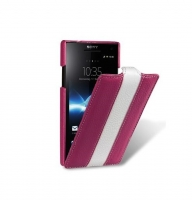 Чехол для Sony Xperia S LT26i Melkco Jacka limited leather case purple/white (000556)