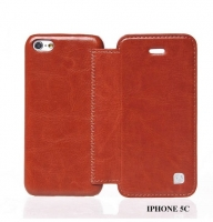 Чехол для iPhone 5C HOCO Crystal book leather case brown (0026256)