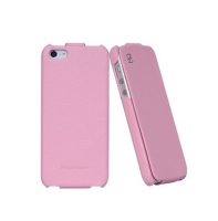 Чехол для iPhone 5/5S HOCO Duke flip leather case pink (000252)