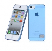 Чехол для iPhone 5/5S HOCO Crystal Colorful protective cover case for trans blue (000244)
